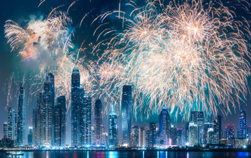 Dubai Marina fireworks 2018