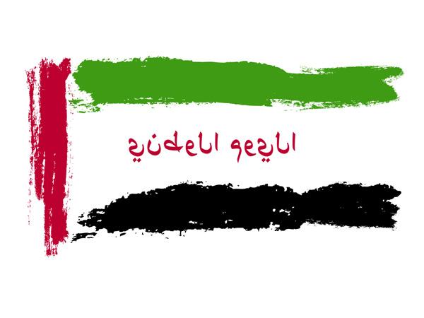 National day Dubai flag