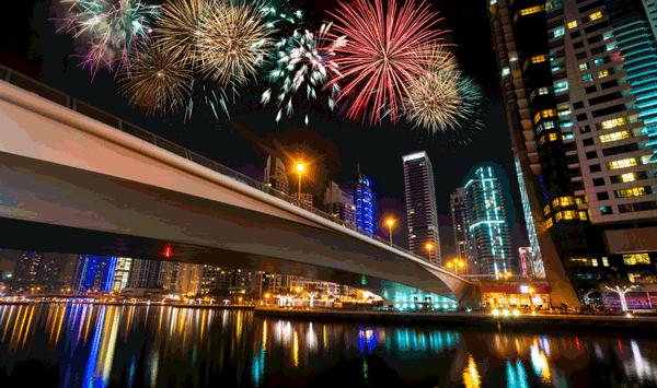 burj khalifa fireworks national day 2018