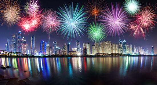 fireworks in dubai today timings