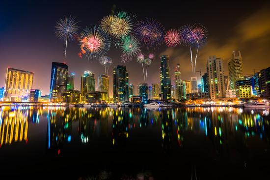 global village fireworks timing
