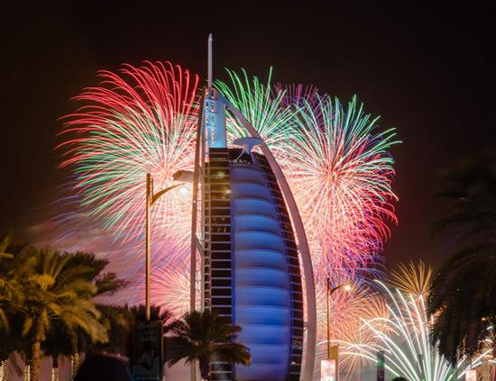 burj al arab fireworks 2019