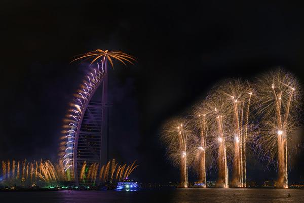 burj al arab fireworks nye