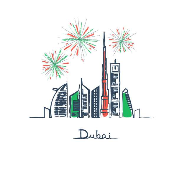 dubai happy new year 2019